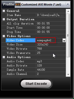convert iphone video to avi