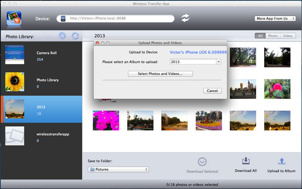 upload photos from Mac to iPhone without iTunes